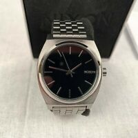 NIXON Men's Watch Quartz Black Silver Stainless Steel Strap Analogue A045-000