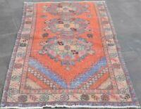 High Quality Anatolian Wool Carpet Turkish Vintage Handmade Nomadic Rug 3x6 ft.