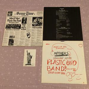 JOHN & YOKO / PLASTIC ONO BAND - SOME TIME IN NEW YORK CITY 2-LP 1972 A1/B1 MINT
