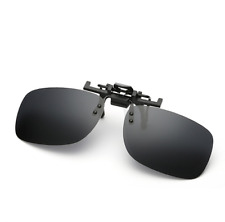 Polarized Clip on Sunglasses clip on glasses square Polaroid Lens Men Women mirr