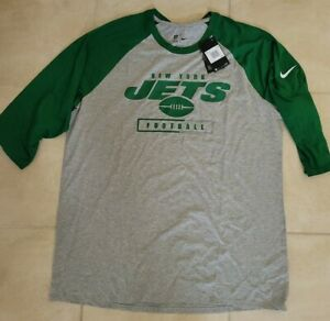 New Nike NFL New York Jets Nike Tee Shirt Men's 2XL $45 NWT
