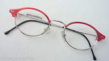 Bluebay silberne Metallbrille mit rotem Acetatoberrand Trend-Fassung Style sizeM