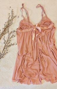 Retro Vintage-look Lingerie Babydoll Top Lace Cottagecore XS