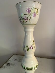 Jardiniere - Plant Stand Pot Vase  - height 62 cm Floral Hand Painted