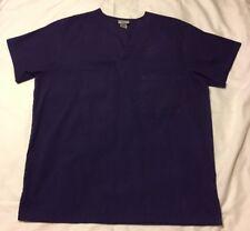 Scrub Advantage Scrub Top Solid Purple Chest Pocket Women's Medium Uniform