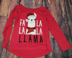 The childrens place holiday Llama shirt 4t