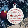 Personalised Christmas Year Of The Lockdown 2020 Wood Bauble Tree Decoration