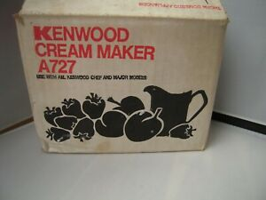 BOXED KENWOOD CHEF - CREAM MAKER A727 - (FITS A700, A701, A701A MODELS).