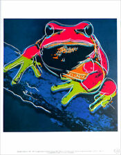 ANDY WARHOL Pine Barrens Tree Frog Official Authorized 1989 Litho Print