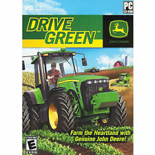 New Sealed John Deere Tractor Drive Green Software Pc Game Cd-Rom