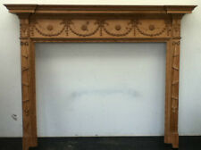 Antique Georgian Pine Wooden Hand Carved Fireplace Surround Mantelpiece (BL349)
