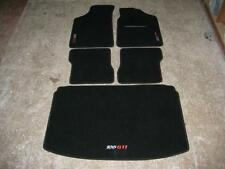 Car Mats in Black to fit Peugeot 106 + 106 GTI Logos and Boot Mat