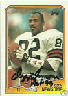 Ozzie Newsome Signed 1988 Topps Cleveland Browns Card - COA - HOF 1999 - Ravens