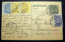 AUSTRIA Stamps Reply Card use in Switzerland Bahnhof RR