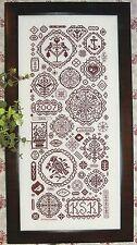 Rosewood Manor MEDALLIONS Cross Stitch Chart/Leaflet ~ quaker motifs sampler +