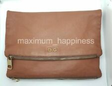 D&G DOLCE AND GABBANA ANIA LARGE FOLD OVER LEATHER CLUTCH - AUTHENTIC