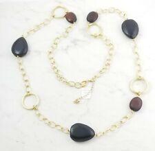 """lia sophia 'Chestnut' gold tone necklace, 44-47"""", RV $88"""