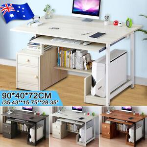 Office Computer Desk Laptop Table Home Study Workstation Storage Cabinet Shelf