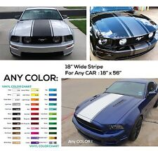 "HOOD vinyl stripe set 18"" Graphic Mustang Ford Decal Decals Graphics NEW Rally"