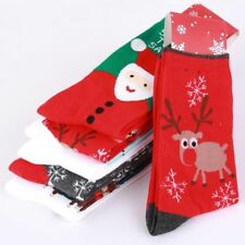 5 Pairs Men's Ladies Festive Christmas Design Novelty Cotton Socks Women's Xmas