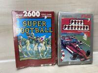 Super Football Complete Box Manual Cib Atari 2600 7800 Pole Position Sealed Lot