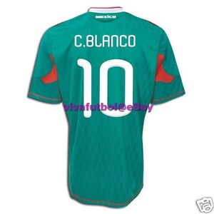 NWOT Adidas Mens Mexico 2010 WORLD CUP Home Soccer Jersey CUAUHTEMOC BLANCO #10
