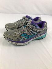 Saucony Women's Omni 13 Running Shoe Silver/Blue/Purple Size 6
