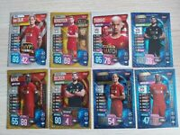 Match Attax 19/20 2019/20 set of Liverpool foil cards inc Gold foils & 100 Club