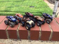 Hot Wheels Monster Jam Trucks Joblot 1/64 Scale In Fair Condition