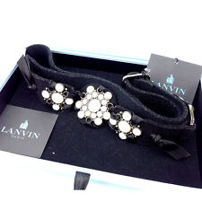Lanvin belt Black Woman Authentic Used Y1260