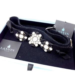 Lanvin belt Black Woman Authentic Used Y1260