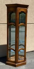 Ethan Allen Country French Lighted Curio Display Cabinet