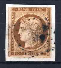 "FRANCE STAMP TIMBRE N° 1 "" CERES 10c BISTRE-JAUNE 1850 "" OBLITERE A VOIR  P934"