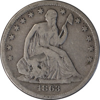 1863-S Seated Half Dollar - Chopmarked Great Deals From The Executive Coin Compa