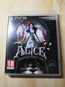 Jeu rare PS3 Alice Madness Returns FR français electronic arts EA game