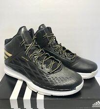 Adidas Boys Size 4 Performance Transcend Basketball Training Shoe Black Gold