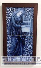 William MORRIS incorniciato 2 TASSELLO PANNELLO organo HAND MADE FORNO sparato piastrelle di ceramica