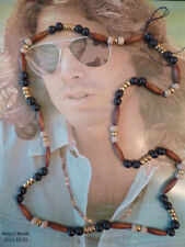 Wood & Brass Jim Morrison Doors 1967 Love Bead Necklace Authentic Replica