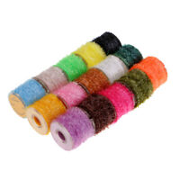 15 Rolls Tinsel Chenille Line Crystal Flash Line for Nymphal Flies Lure DIY