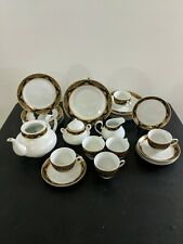 H3 Fine Porcelain Pegasus Tea Dinner Set White Gray Black Gold Plates Cups