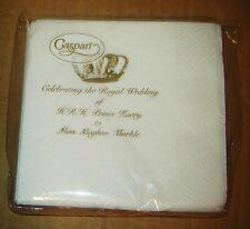 PRINCE HARRY MEGHAN MARKLE ROYAL WEDDING CASPARI NEW 24 COCKTAIL PAPER NAPKINS