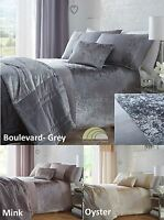 Crushed Velvet Duvet Cover Bed Bedding Sets or Cushion or Bedspread or Curtains