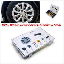17mm Chrome Lug Nut Covers 100p Set for Auto Car Wheel Rim Tire Bolt Center Caps