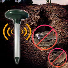 2PCs Solar Ultrasonic Mouse Pest Repeller Vibrating Snake Repellent Outdoor Used
