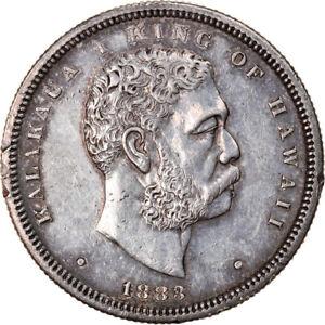 [#907329] Moneda, Hawái, Kalakaua I, 1/2 Dollar, Hapalua, 1883, EBC, Plata, KM:6