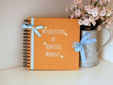 Baby Memory Book, Journal, Scrapbook, Mum to Be Gift, Hand Decorated Baby Shower