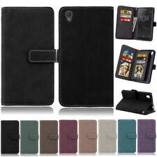 Matte Photo 9 Wallet Leather Flip Case Cover For Sony XA XA1 XZ XZ1 XZ2 Z3 Z5 C3