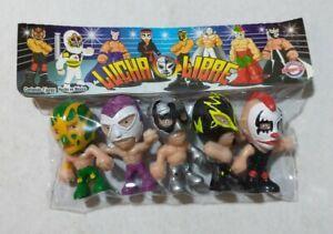"Wrestling 3"" set of 5 figures, Lucha Libre Luchadores Cabezones (2)"