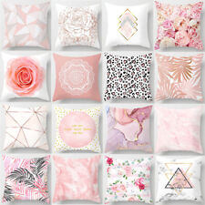 18'' Pillow Cases Throw Cushion Covers Sofa Home Car Decor Nordic Pink Polyester