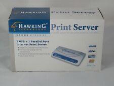 Hawking Technology Hps12U Internet Print Server 2 Usb 1 Parallel New
